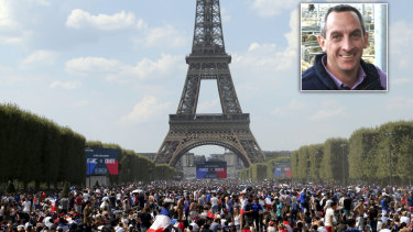 Rohan Arnold went on a sightseeing tour of Paris with police.