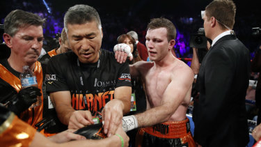 Painful lesson: Jeff Horn suffered a loss earlier this year.