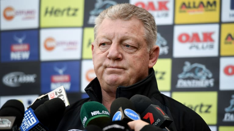 Hiring and firing: Penrith football supremo Phil Gould.