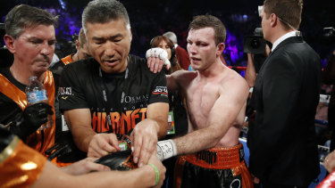 Disappointed: Jeff Horn's trainer and promoter believe the Australian could have pulled something out of the bag.