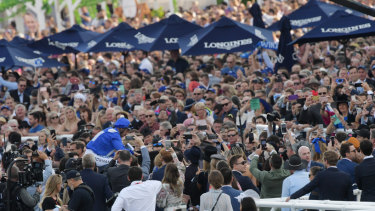 People's champ: Over 42,000 people flocked to Randwick to watch Winx win her last race.
