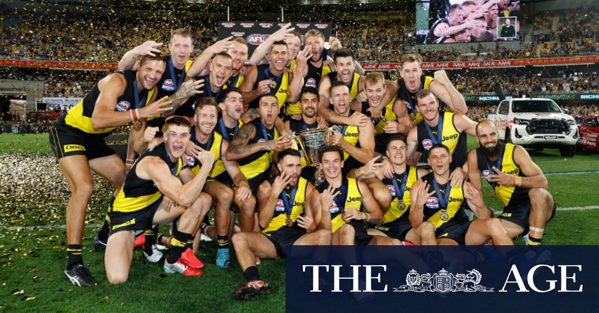 Tigers do it the hard way to win third flag in four years – The Age