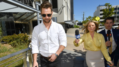 Neighbours star denies slur before 'glassed' by stripper: court told