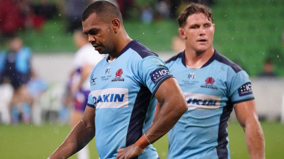 'We're in a hole': Winless and pointless Waratahs hit new low in loss to Rebels