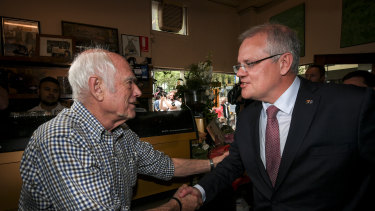Pellegrini's cafe has been reopened on Tuesday morning after the co-owner Sisto Malaspina died from the Bourke Street terror attack. Prime Minister Scott Morrison met with the co-owner Nino Pangrazio.