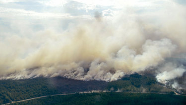 Smoke billows from a fire outside Ljusdal, Sweden last month. The country has been fighting serious wildfires.