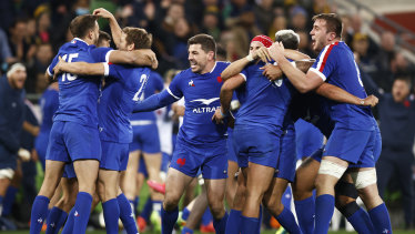 The understrength Les Bleus defeated the Wallabies at the death in Melbourne.