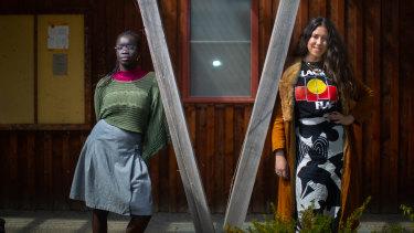 Artist Atong Atem and curator Kimberley Moulton.