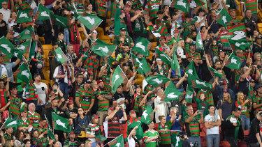 South Sydney fans made Suncorp Stadium their own on Sunday.