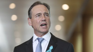 Health Minister Greg Hunt said new information revealed the doctor had not completed the compulsory online training.