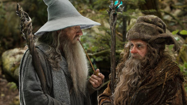 Sylvester McCoy as Radagast, right, with Ian McKellen as Gandalf in The Hobbit film trilogy.