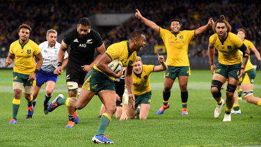 Kurtley Beale scores a try in Perth as the Wallabies beat the All Blacks for the first time in eight matches. But what will the game look like after coronavirus?