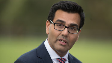 Western Bulldogs CEO Ameet Bains talks to the media on Tuesday.