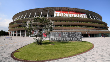 Urban renewal: the Tokyo Stadium prior to the Opening Ceremony of the  Games last week.
