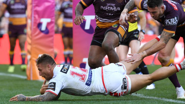 Tariq Sims was immense and was rewarded with three first half tries.