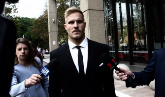 Back in court: Jack de Belin heads to the Federal Court to challenge the NRL's decision to stand him down.