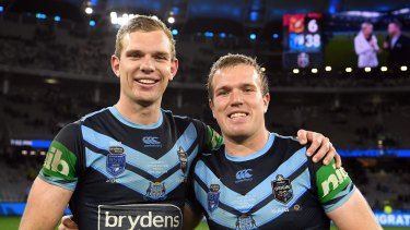Tom and Jake Trbojevic played starring roles for NSW in Origin II at Optus Stadium.