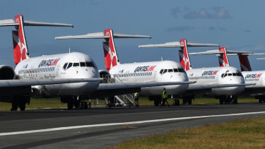 The federal government is considering underwriting domestic flights operated by Qantas and Virgin Australia.