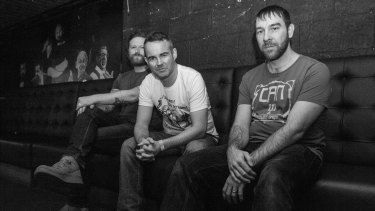 Mclusky's Andy Falkous (centre) is rapt to have the band back on the road.