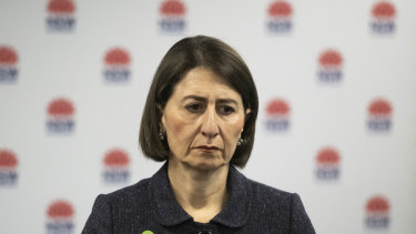 NSW Premier Gladys Berejiklian did not address the findings of the report from the Ruby Princess inquiry on Saturday.