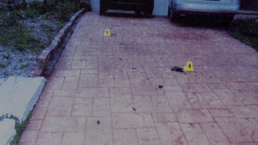 A court exhibit showing the driveway of the Rouse Hill home.