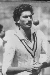 Ravi Shastri in 1985.
