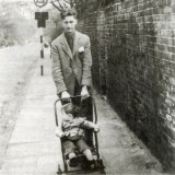 Orwell with his son Richard.