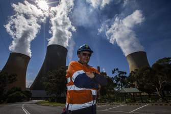 Phill Bramstedt is a contract worker a the Yallourn power station.