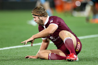 """Despite passing all his concussion tests post-match, Welch said the """"really tough"""" call was made to pull him from game two following an """"honest conversation"""" with both his club and Maroons doctor."""