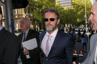 Craig McLachlan appears at the Melbourne Magistrates Court on charges he sexually assaulted cast mates during the Rocky Horror Show.