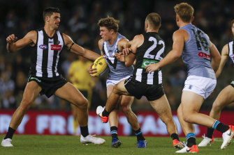Collingwood v Port Adelaide will complete the home-and-away season.