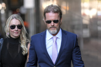 Craig McLachlan outside court earlier this year.