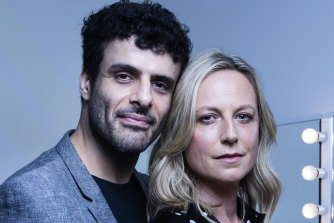 Fayssal Bazzi and Marta Dusseldorp star in the STC's Deep Blue Sea.
