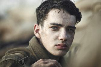 Kodi Smit-McPhee as wide-eyed teen soldier Tolly in Gallipoli.