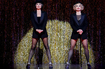 A double act to die for: Alinta Chidzey and Natalie Bassingthwaite.