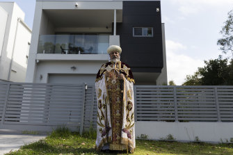 Bishop Daniel, leader of the NSW Coptic Orthodox Church, pictured at his home in Peakhurst in 2017.