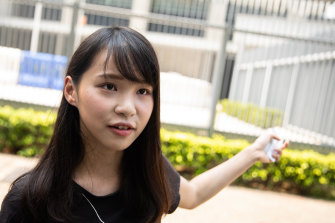 Agnes Chow said any resistance to Joshua Wong's candidacy could spark further protests.
