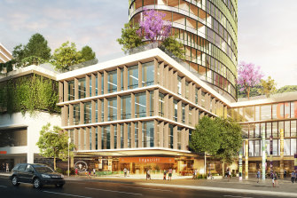 An artist's impressions of the Edgecliff Commercial Centre.
