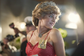 Tortured soul: Emma Corrin as Diana, Princess of Wales in an episode of The Crown.