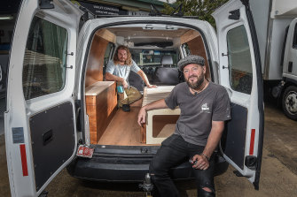 Vanlife Conversions owners Jared Melrose Campbell (front) and Sam Peterson.