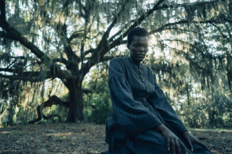 Sheila Atim plays Cora's mother, Mabel, in The Underground Railroad.