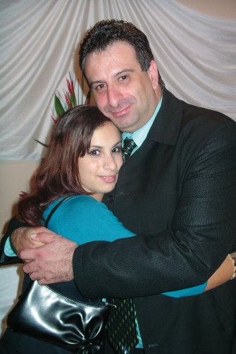 A younger Mariam with her father Kamalle.