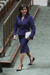 Newly independent MP Julia Banks during Question Time on Tuesday.