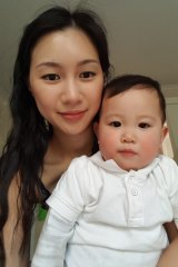 Jessica Nguyen, 28, has had to use money set aside for Winston, 15 months, to make ends meet.