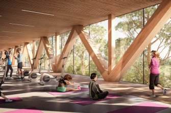 The facility will include two pools, a fitness centre and a cafe.