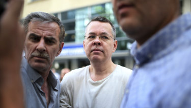 Andrew Craig Brunson, an evangelical pastor from Black Mountain, North Carolina, arrives at his house in Izmir, Turkey, in July. He is under house arrest.