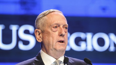 Jim Mattis at the Shangri-La Dialogue.