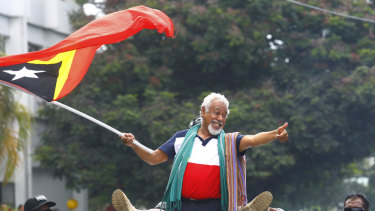 Timor-Leste's independence hero Xanana Gusmao.