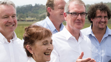 NSW Labor leader, Michael Daley, with the Labor candidate for Lismore, Janelle Saffin, in Kyogle on Thursday.