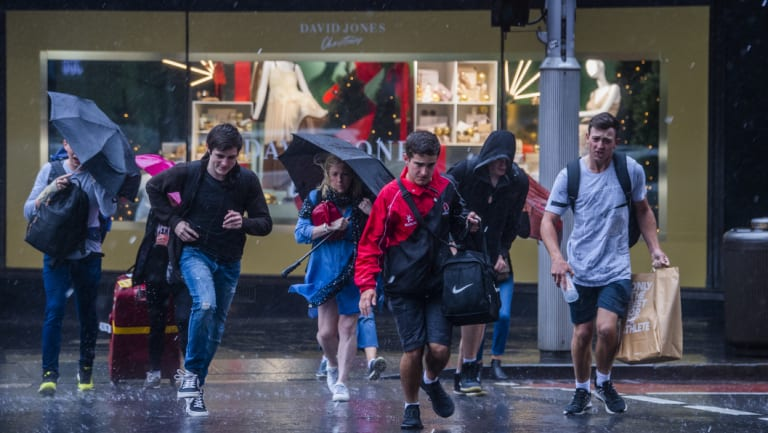 Heavy rain left many commuters soaked on Wednesday.